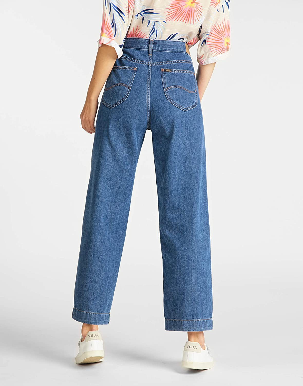Lee Wide Leg Jeans Straight Donna