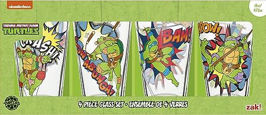 Nickelodeon TNTQ-4241 Teenage Mutant Ninja Turtles Beer Glass, 16 oz,