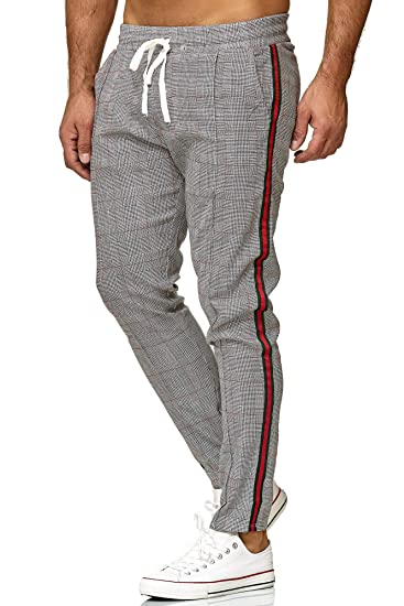 Redbridge Hommes Chino Slim Fit Rayé Casual Élastique Gym à Carreaux Mode  Pantalon d20bb12a7bac
