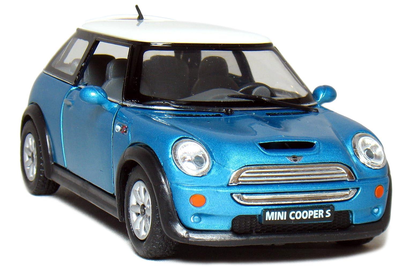 Amazoncom Kinsmart 5 Mini Cooper S 128 Scale Blue Toys Games
