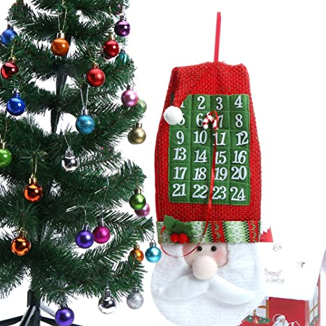 store homer newest santa claus christmas calendars wall hanging ornaments navidad xmas advent countdown