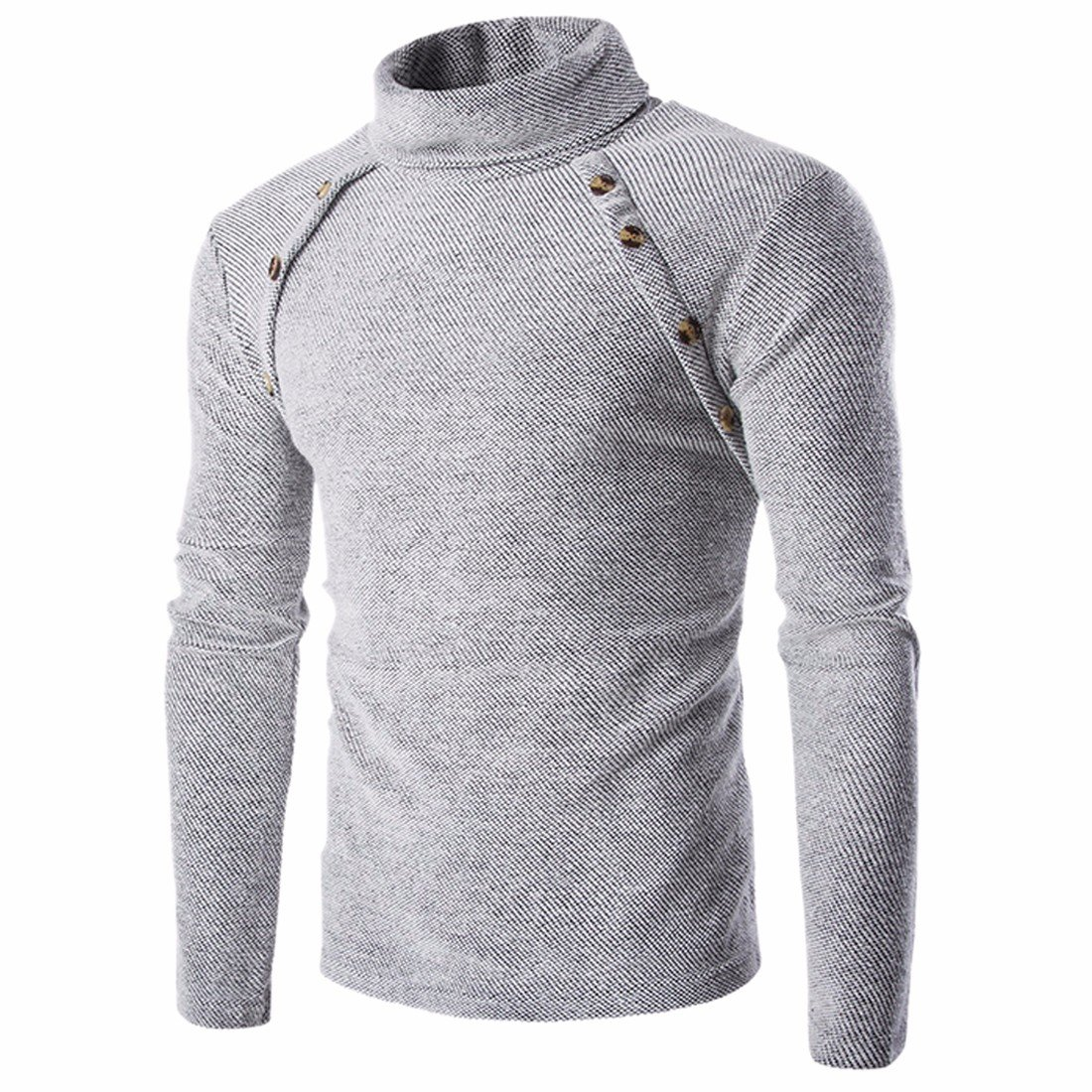 Men's Solid Color Stand Collar Pullover Knitted Sweater QIYUN.Z A2006S0999/1ONE