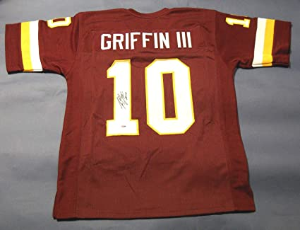 ROBERT GRIFFIN III AUTOGRAPHED WASHINGTON REDSKINS JERSEY PSA DNA