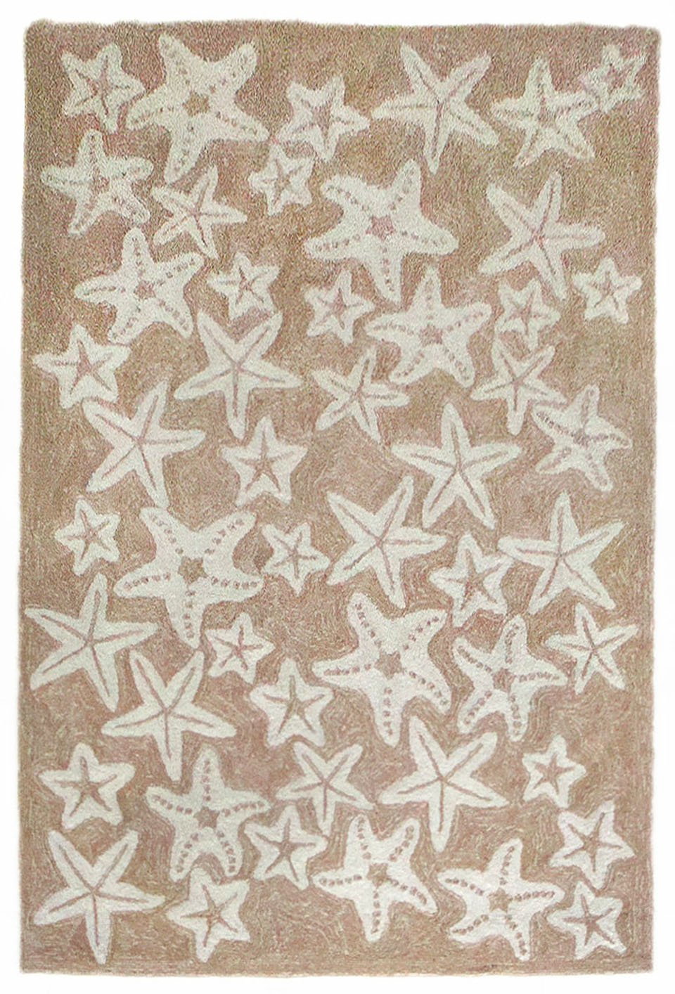 Liora Manne Monaco Sea Star Rug, Neutral, 24x8' 24x8' The Trans Ocean Group CA0R8B01912