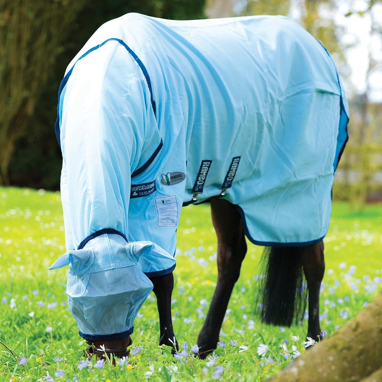 Horseware Rambo Pony Sweetitch Hoody Vamoose (inkl. Fliegenmaske) - Baby Blue/Navy