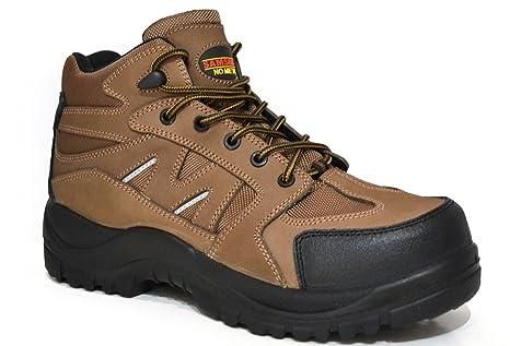 Piel de NOBUCK sin metal impermeable botas de trabajo de seguridad Samson XL Marrón, UK