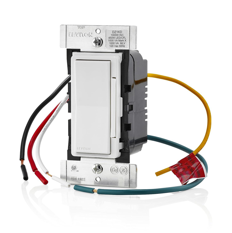 Leviton DZ1KD-1BZ Decora Smart 1000W Dimmer with Z-Wave Plus ...