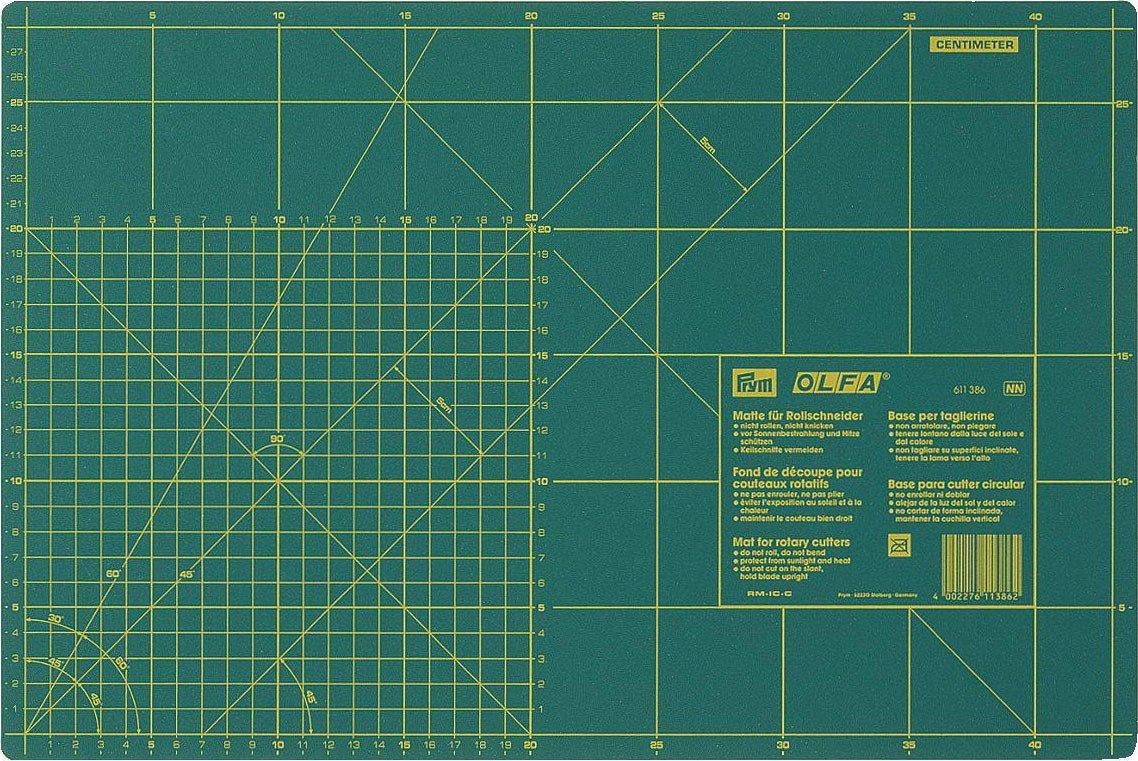 Prym Schneideunterlage Unterlage für Rollschneider cm/inch 45 x 30 cm PRYM_611386-1