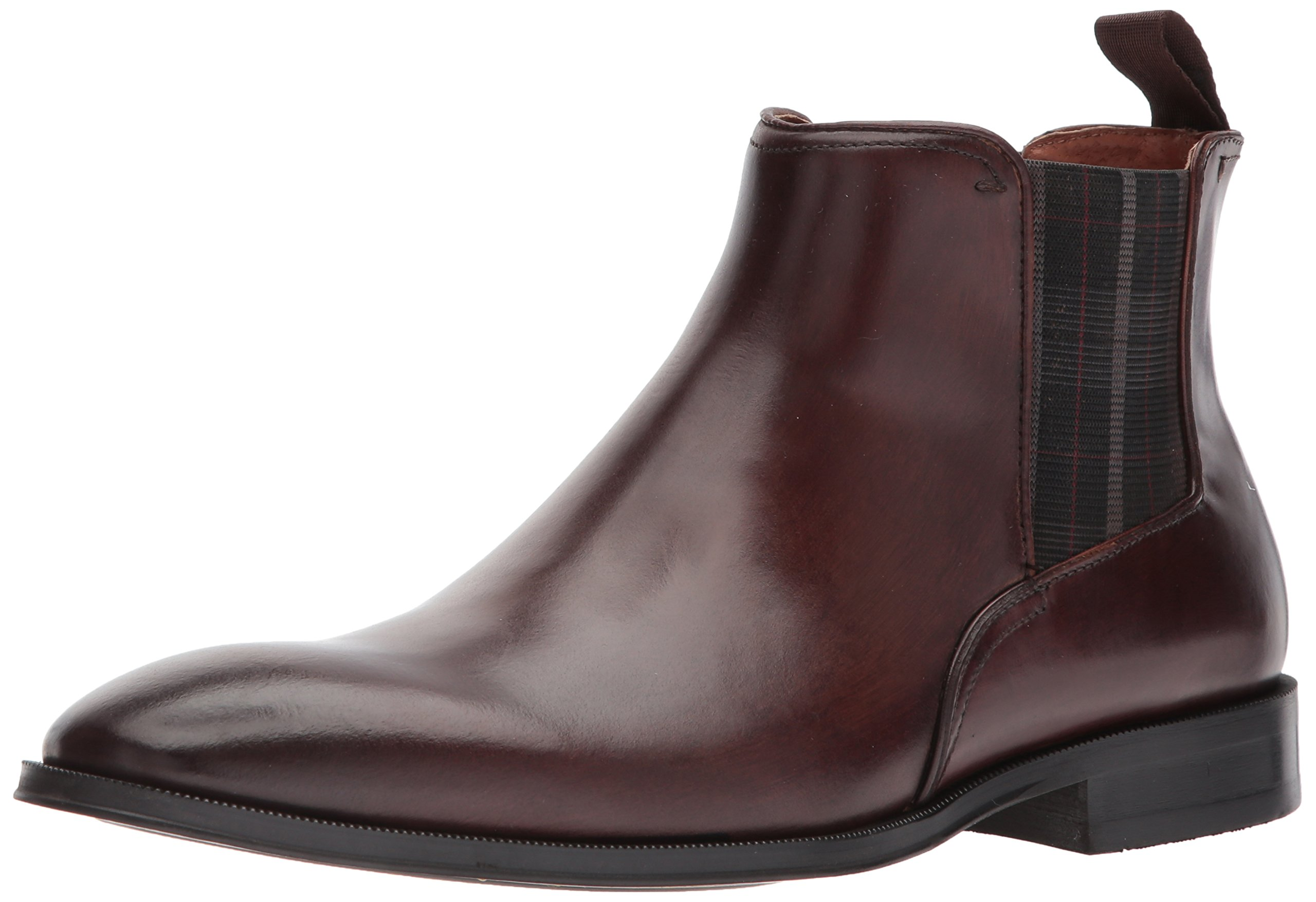 Florsheim Men's Belfast Plain Toe Gore Chelsea Boot, Brown, 9 D US by Florsheim