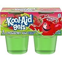 Jell-O Kool-Aid Gels Strawberry Kiwi Ready-to-Eat Gelatin Snack (24 Cups, 6 Packs of 4)