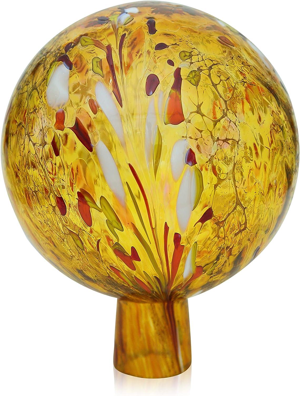 Granul/és de jardin avec boule dor/é 15 cm en verre souffl/ée /à la bouche handgeformt lauschaer loriginal