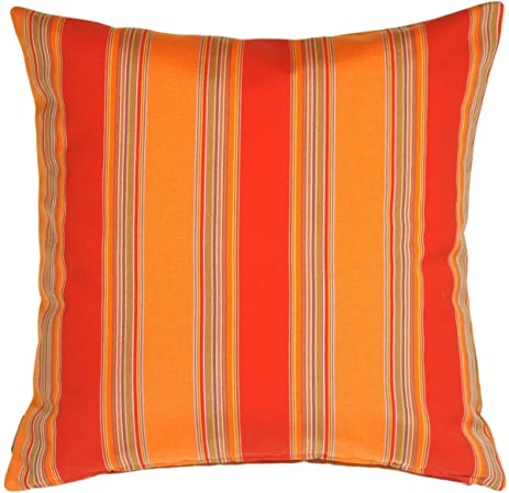 Pillow Decor   Sunbrella Bravada Salsa 20x20 Outdoor Pillow