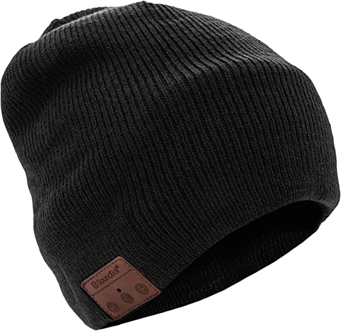 This is the image of a SoundBot Bluetooth Wireless Smart Beanie Headset in black color.