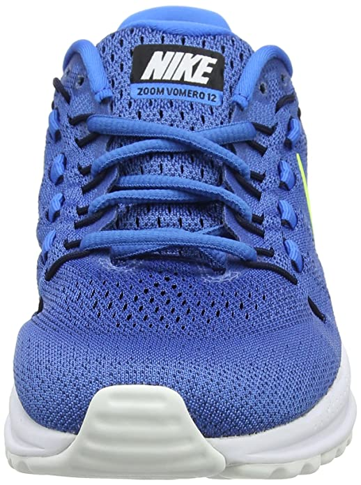 6e0a3aab7c43b Nike Air Zoom Vomero 12 Size 11.5 Mens Running Star Blue Volt-Italy Blue-Obsidian  Shoes  Amazon.in  Shoes   Handbags