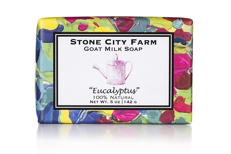 Eucalyptus Goat Milk Soap - 100% Natural 5 oz. Bar