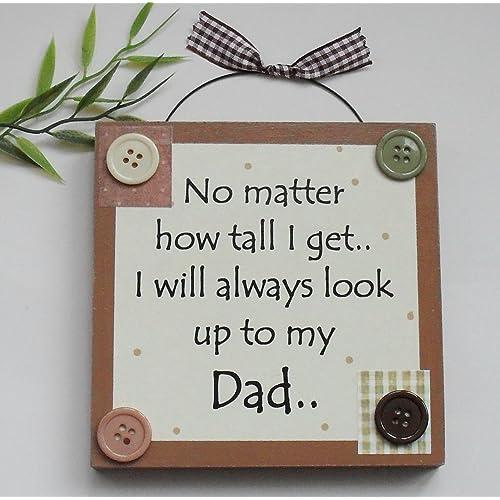 Best Dad Fathers Day Birthday Wooden Keepsake Gift Plaque Brown