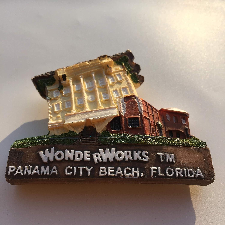 Florida USA 3D Panama City Refrigerator Magnet Resin Travel Souvenirs,Handmade Home /& Kitchen Decoration America Fridge Magnet Collection Gift