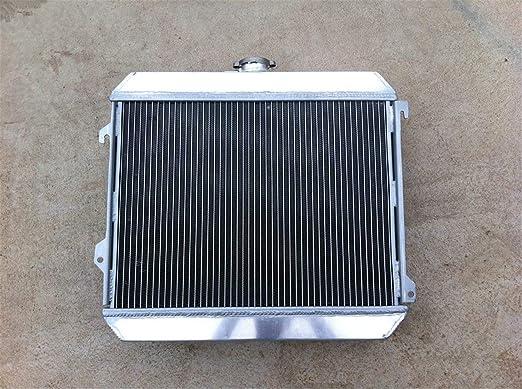 MONROE RACING U0119 3 core aluminum radiator and 14 fan for DATSUN 510 610 620 710 720 L20B Manual