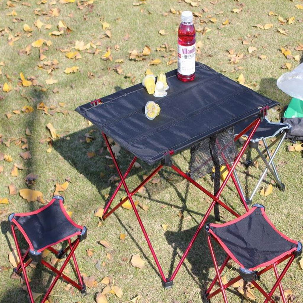 Forgun Outdoor Folding Ultra-light Aluminum Alloy Portable Camping Picnic Table by Forgun
