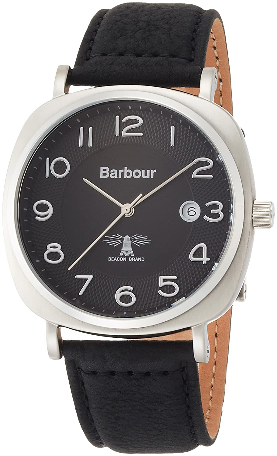 Barbour BB018SLBK Mens Beacon Black Leather Strap Watch: Barbour: Amazon.co. uk: Watches