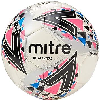 Mitre Delta Futsal Balón de fútbol, Unisex Adulto, Blanco y Rosa ...