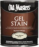 Old Masters 24991 80704 Gel Stain, Dark Walnut, 1 quart