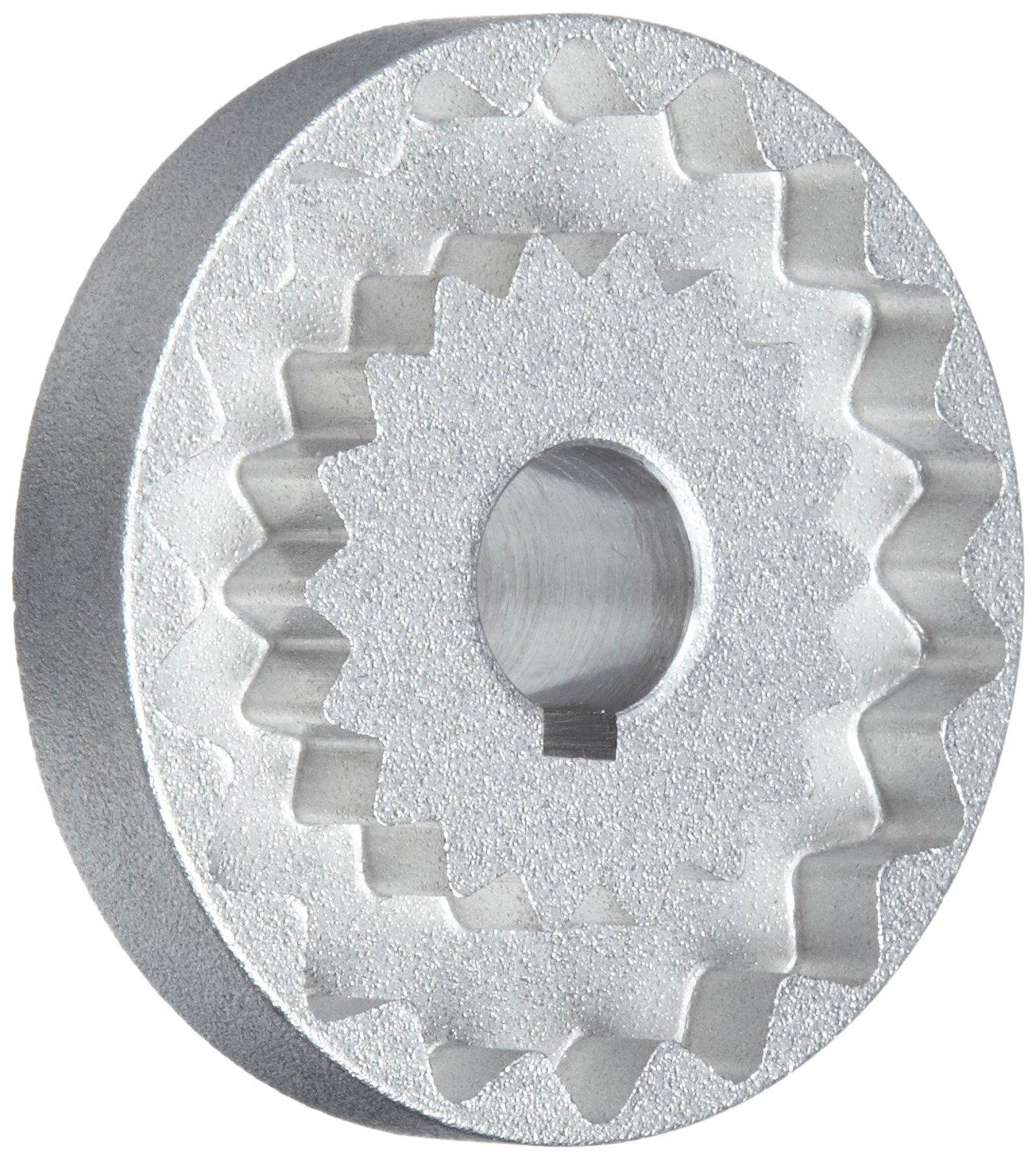 15 mm Bore A 15 mm Bore B Metric Sintered Steel 60.325 mm Length 62.484 mm OD Martin 4J Quadraflex Coupling Flange