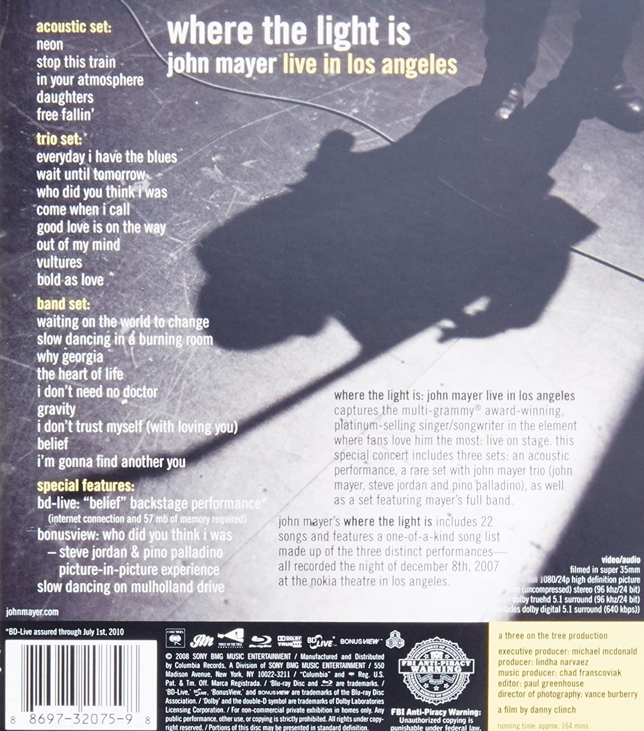 Amazon.com: John Mayer: Where the Light Is - Live in Los Angeles ...