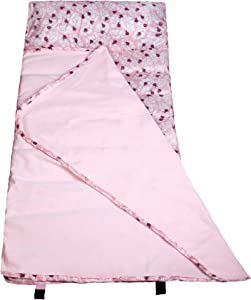 Wildkin Easy Clean Nap Mat with Pillow for Toddler Boys and Girls, Ideal Size for Daycare and Preschool, Perfect for Sleepovers and Travels, BPA-free (Lady Bug Pink)