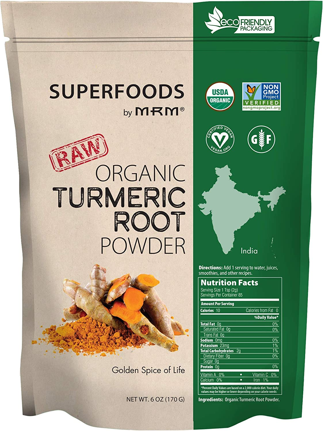 Super Foods - Raw Organic Turmeric Powder