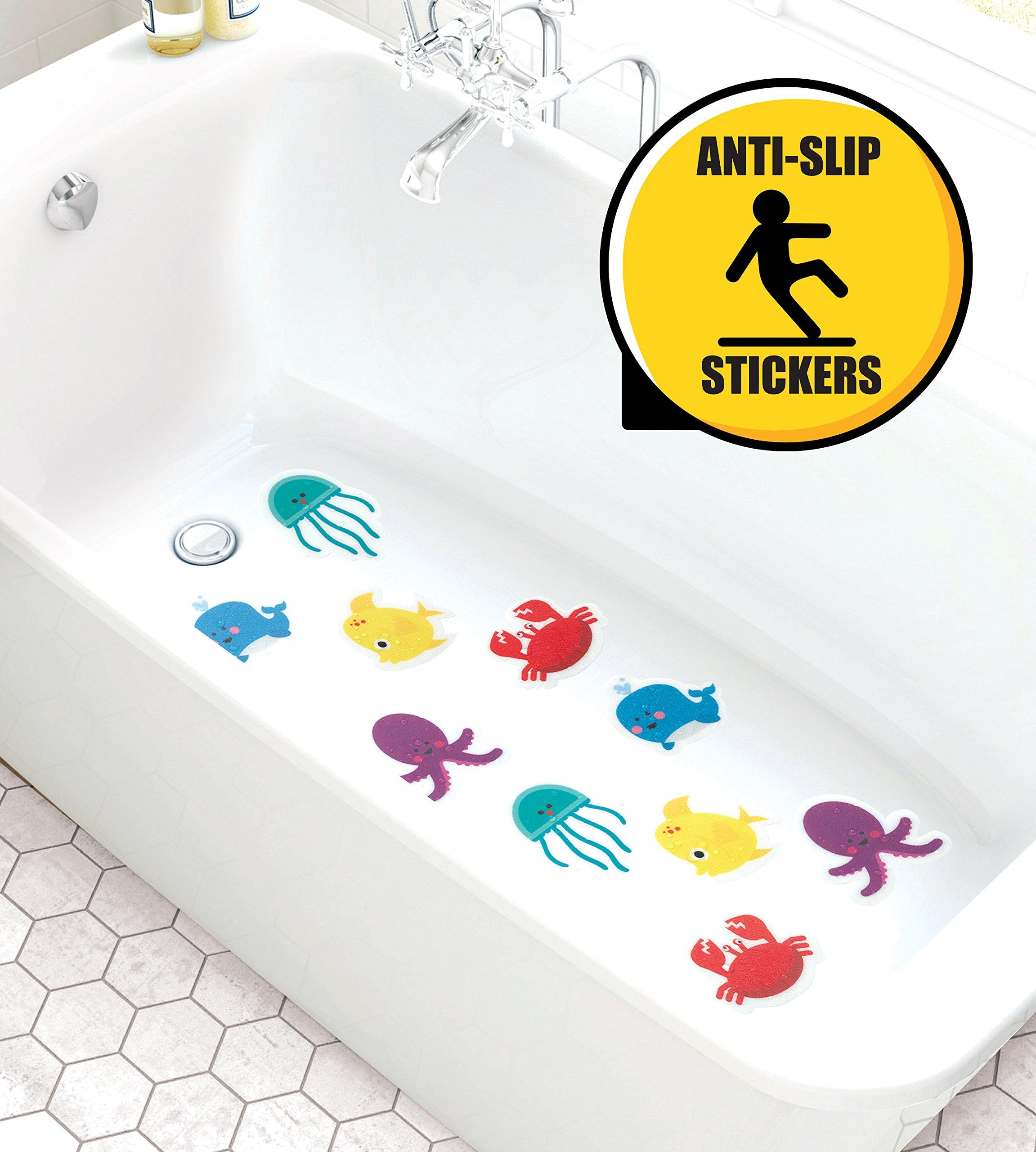 Curious Columbus Non-Slip Bathtub Stickers Pack of 10 Large Sea ...