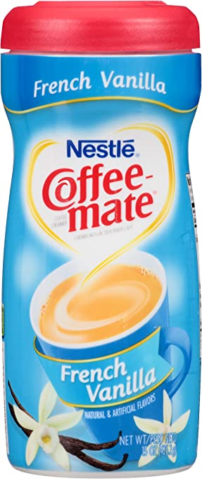 Nestle Coffee-mate Coffee Creamer, French Vanilla, 15oz powder creamer