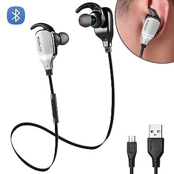 Evolva Future Technology Deporte Auriculares Bluetooth In-Ear Con MicrÓFono Incorporado Para IPhone, Samsung, Smartphones Android (Negro): Amazon.es: ...