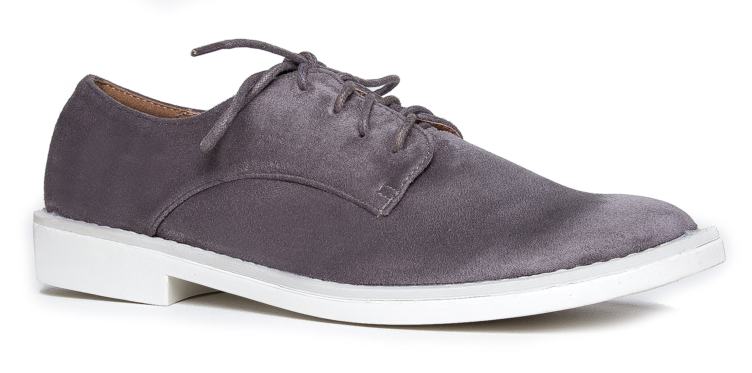 J. Adams Classic Oxford Slip On Shoes – Low Comfortable Lace up Sneakers – Casual Pointed Toe Chunky Heel – Maylor