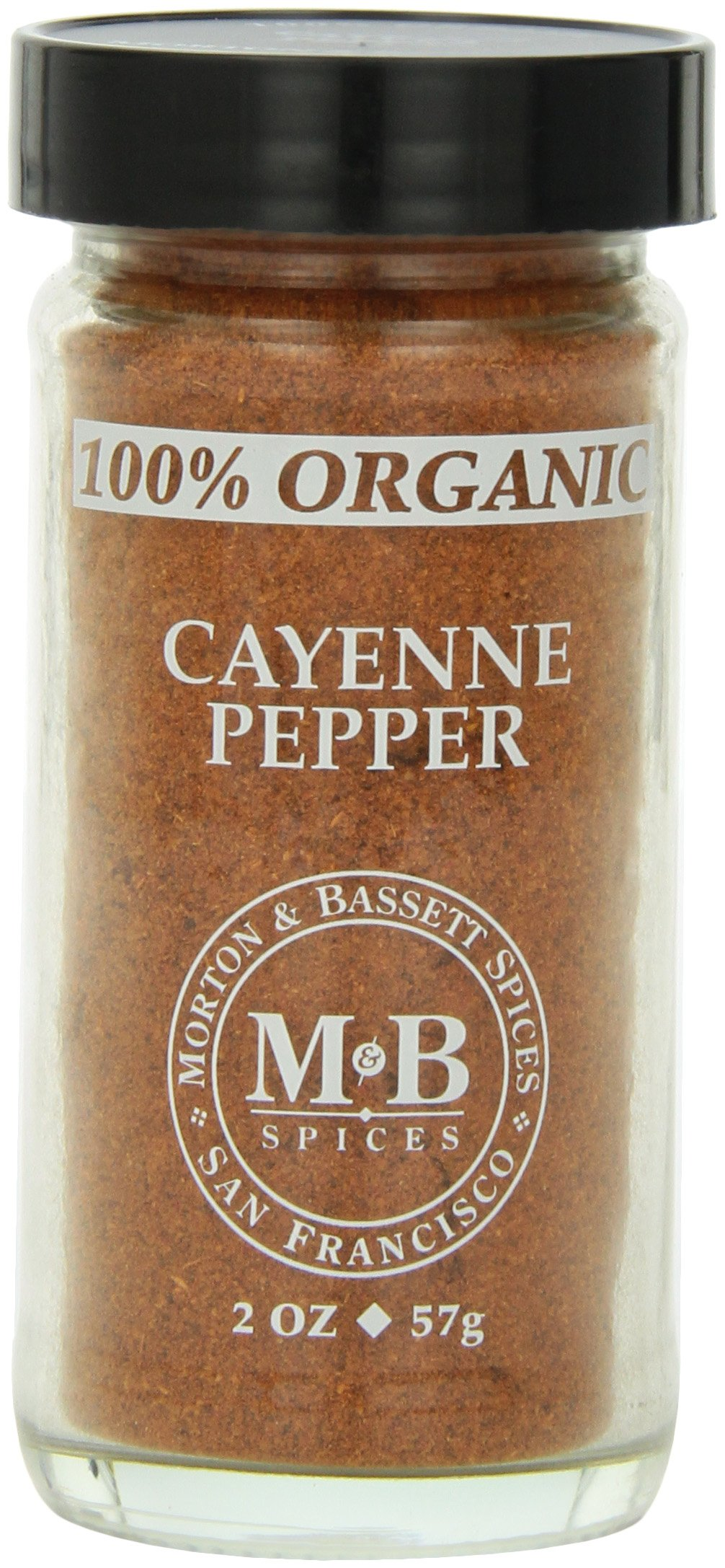 Morton & Basset Spices, Organic Cayenne Pepper, 2 Ounce (Pack of 3)