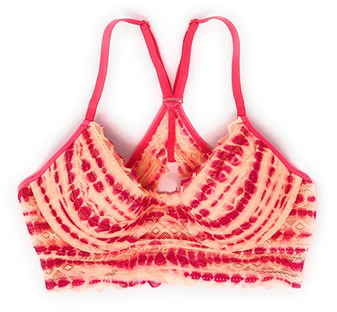 7f06731620 Victoria s Secret Pink Geo Lace Racerback Bralette at Amazon Women s ...