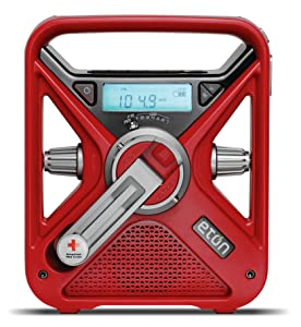 American Red Cross Emergency NOAA Weather Radio, AM/FM/WX Radio with Solar, 2600 mAh Lithium Ion Battery and Crank power, USB Smartphone Charger and LED Flashlight and Red Beacon ARCFRX3+WXR
