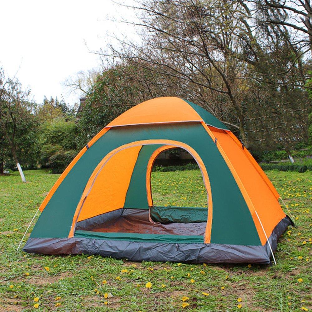 TY&WJ Vollautomatische Familienzelt,Einlagige Kuppelzelte Für Outdoor-sportarten Klettern Wandern Zelte Portable Faltung 3-4 Personen