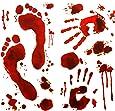 Oblique Unique® Halloween Sticker Aufkleber - Realistisch Wirkende Schaurig Blutige Sticker/Aufkleber - Halloween Dekoration