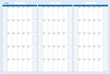 amazon com sky blue 90 day 3 month dry wet erasable quarterly wall