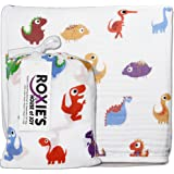 Roxie's Cotton Muslin Baby Everything Blanket, 47x47, Toddlers Unisex, Dinosaur