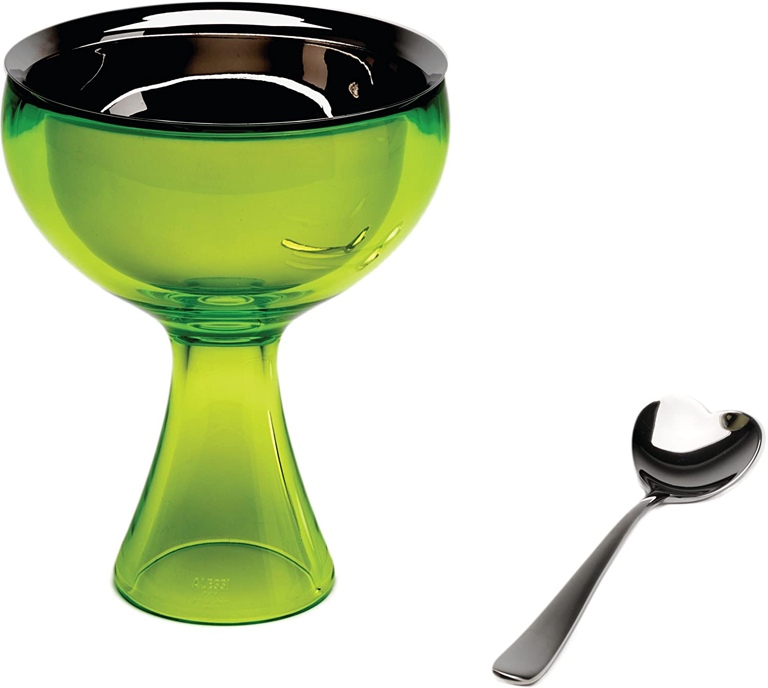 Alessi Big Love Bowl Plus Spoon, Green AMMI01S GB