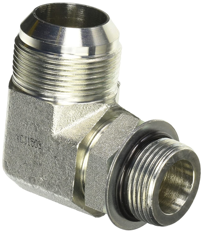 Brennan Industries 6801-05-04-NWO-FG Forged Steel 90 Degree Elbow Tube Fitting 1//2-20 SAE x 7//16-20 SAE ORB Thread 5//16 Male JIC x 5//16 Male Adjustable O-Ring Boss