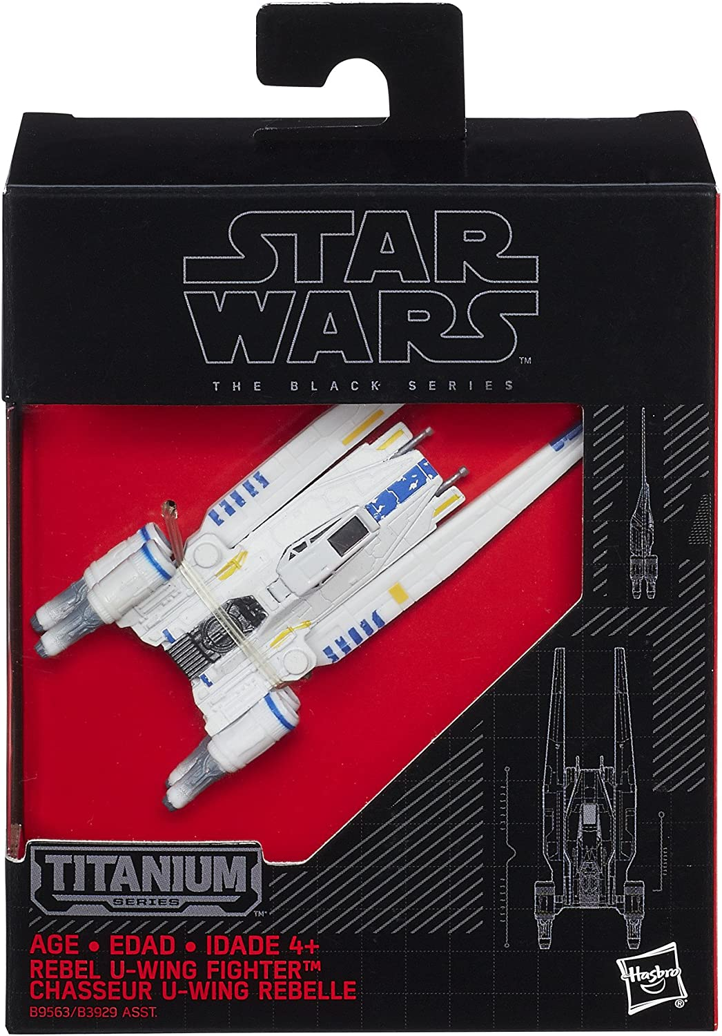 Star Wars Black//Titanium Series Rebel U-Wing Fighter 2-Inch Diecast Vehicle #29