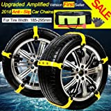 Car Snow Chains Snow Tire Chains Anti-slip Tire Chains for All Cars SUV Trucks Anti-skid Car Chains Snow Chains Car Winter Chains SUV Snow Cables Car Snow Cables for Tire Width: 185-295mm/7.2-11.6''