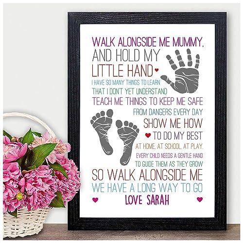 Walk Alongside Me Mummy Mum Nan Nanna Nanny PERSONALISED Birthday Gifts Presents