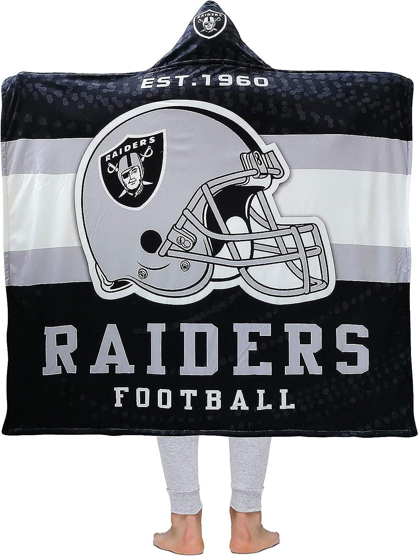 Football Team Hooded Blanket Throw Blanket Air Blanket Sports Style 3D Printing Soft Warm Fleece Sherpa 50 x 60