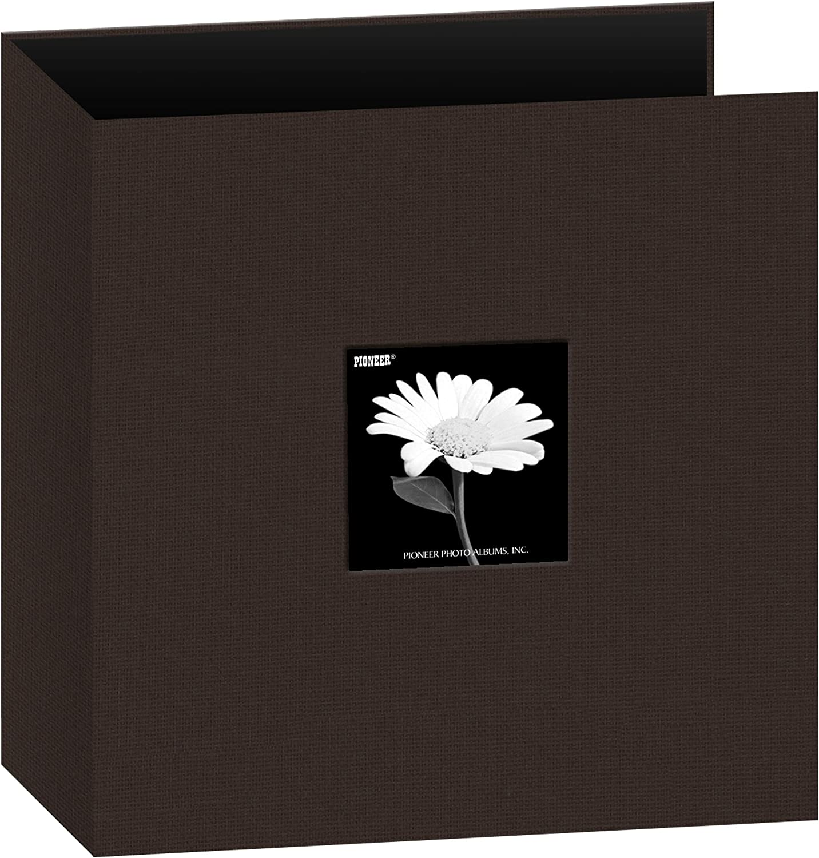 Pioneer Photo Albums 8.5x11 Fabric Frame 3-Ring Binder Scrapbook Chocolate Brown