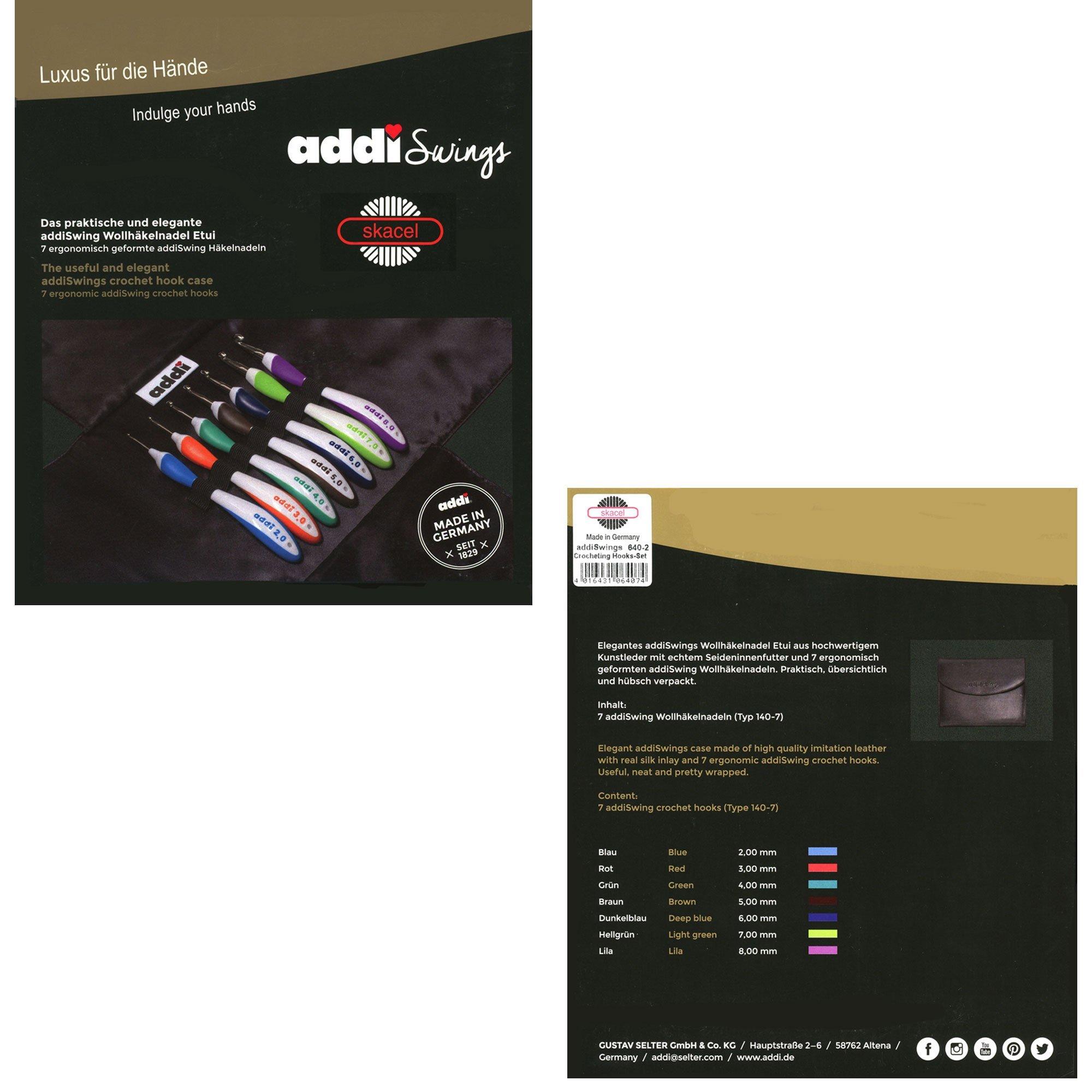 addi Crochet Hook Swing Standard Set Bundle with 1 Artsiga Crafts Project Bag by Addi Knitting Needles (Image #4)