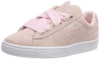 2fda627041 Puma Suede Heart Valentine Jr, Sneakers Basses Fille, Rose Pearl, 35.5 EU
